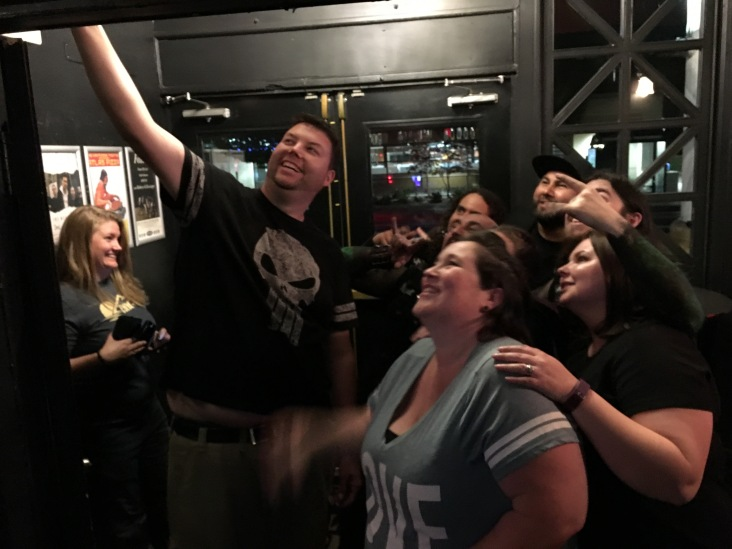 Meet & greet after the first show in Portland, OR