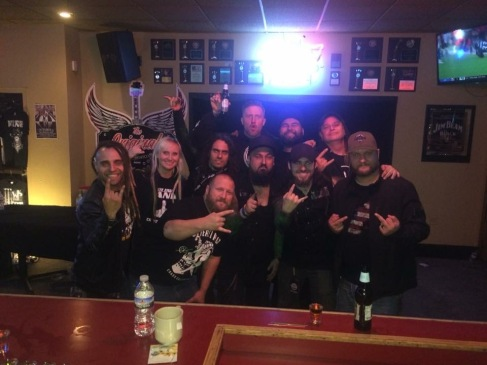Group picture in The Original Bar and Nightclub in Minot, ND