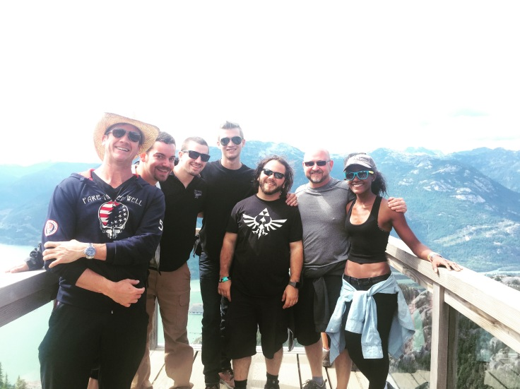 Crew hang in Squamish BC for a day off