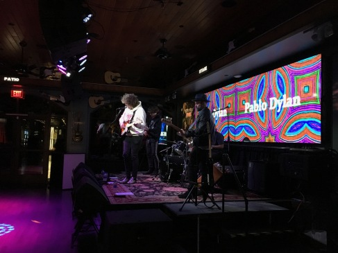 Pablo Dylan performs at Big Rock Pub in Indio, CA. Photo credit: Erika Pursiainen