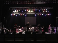 Soundcheck with Pablo Dylan at Salute The Troops Music and Comedy Festival at The Fox Theater in Pomona, CA. Photo credit: Erika Pursiainen