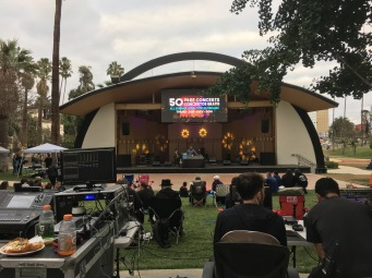 Levitt Pavilion Los Angeles offers 50 free concerts every summer at MacArthur Park (except for 2020 because of COVID-19). Photo credit: Erika Pursiainen