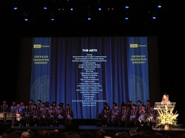 UCLA Extension certificate graduation ceremony 2019 and the arts programs. Photo credit: Erika Pursiainen