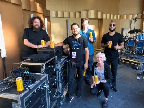 The Levitt Pavilion Los Angeles production crew promoting sponsors. Photo credit: Heidi Snyder
