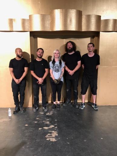 The Levitt Pavilion Los Angeles production team 2019. Photo credit: Erika Pursiainen